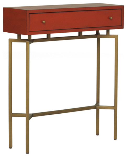 Ming red lacquer chest moderne table d 39 appoint et bout for Table d appoint pour canape