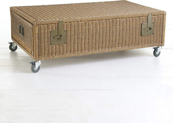 Wicker Trunk Coffee Table Traditional Coffee Tables Dallas By