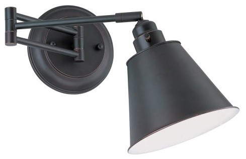 Lite Source LS-16751AGED/CP Santino Swing Arm Wall Lamp contemporary-wall-sconces