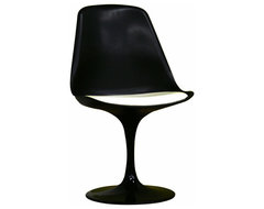 Redd Black Chair with White PVC Cushion modern-outdoor-lounge-chairs