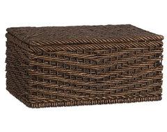 Ventana Lidded Basket Small contemporary-baskets