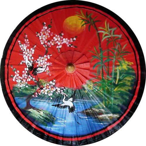 "Asian Spring in Red, 28"" Diameter Fashion Umbrella asian-home-decor"
