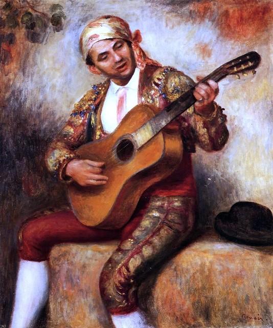 "Pierre Auguste Renoir The Spanish Guitarist - 16"" x 20"" Premium Archival Print traditional-artwork"