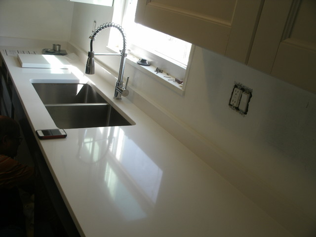 Lefebure project silestone modern kitchen for Silestone sink reviews