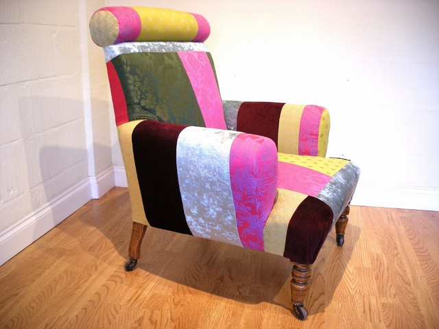 Funky victorian armchair eclectic armchairs accent for Funky armchairs