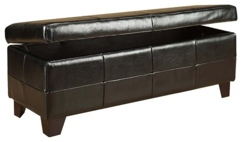 milano wood bedroom storage ottoman modern footstools