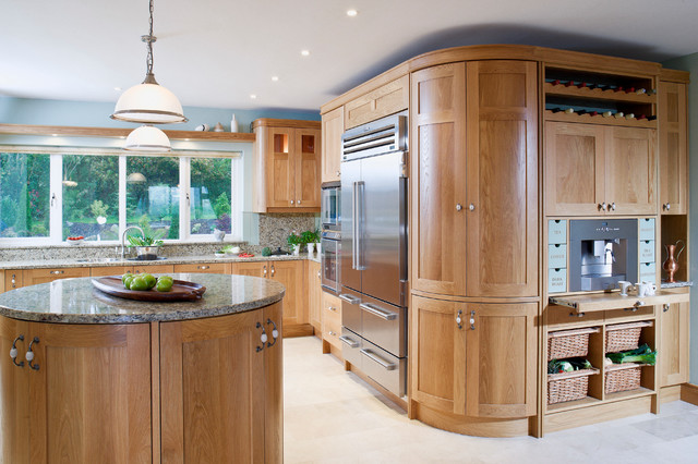 Solid Oak Curved Doors - Traditional - Kitchen - other metro - by ...