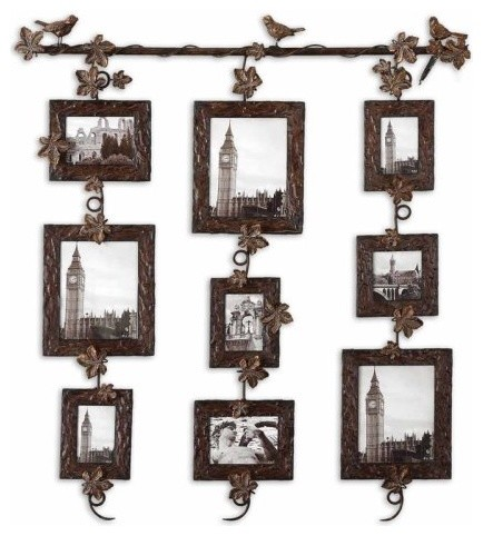 Uttermost ivy hanging photo collage modern frames by for Modern collage frame