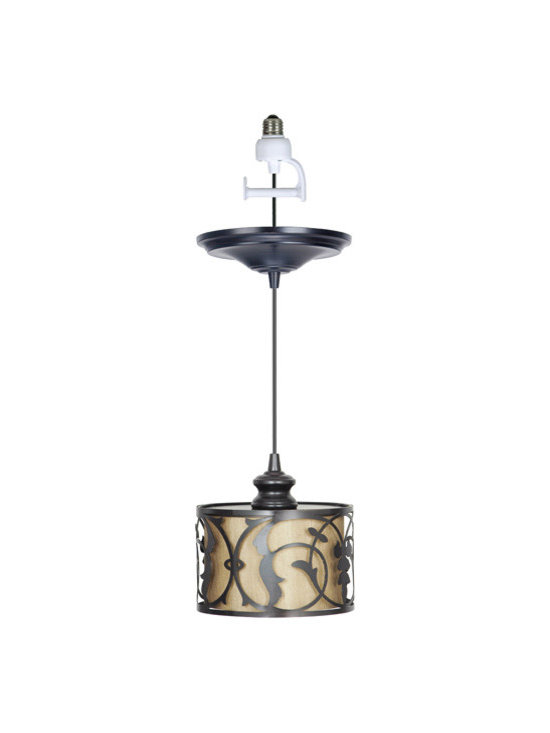 Haven Instant Pendant Light Conversion Kit - Convert your recessed lights to stylish hanging pendant lights as easily as changing a light bulb. Our Haven Instant Pendant Light Conversion Kit requires no remodeling hassles or expense. It installs in minutes without tools and the brushed bronze finish will look good with any decor.