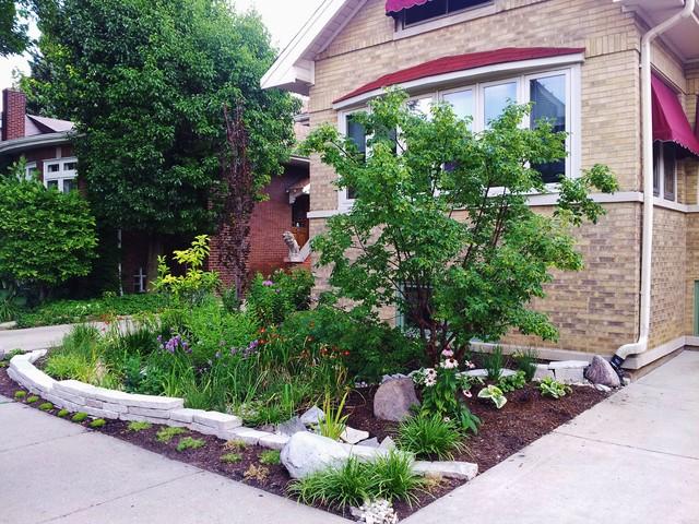 Bean Bungalow Rain Garden Eclectic Landscape Chicago
