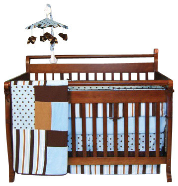 Trend Lab Blue Max Crib Bedding Set traditional-baby-bedding