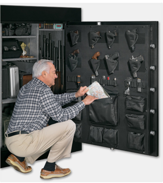 Elite 66-Gun Safe with Electronic Lock and Door Storage - Contemporary ...