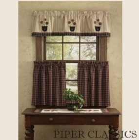 Bowl of Flowers Lined Valance Curtain traditional-curtains