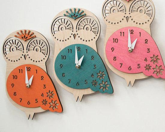 Baby Owl Children's Wall Clock -