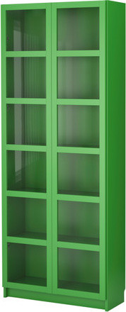 BILLY Bookcase with glass doors modern-bookcases