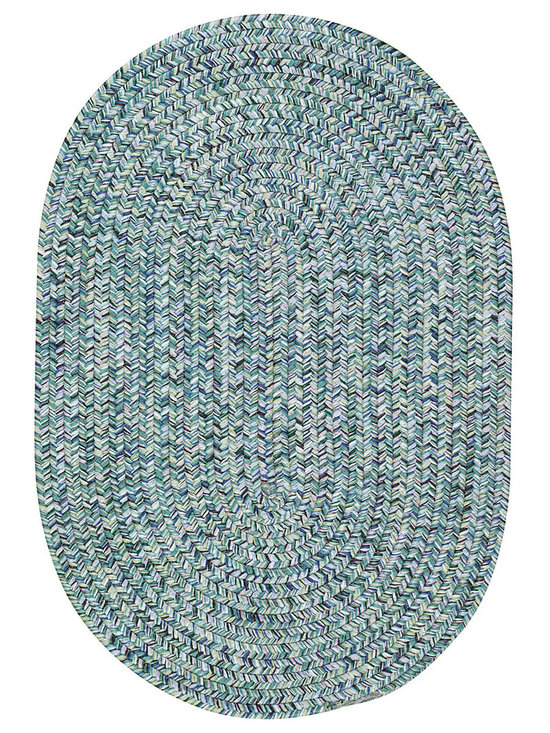 Sea Glass rug in Ocean - We've searched the shorelines and put together a seaworthy palette of multi colored favorites. Our 100% polypropylene Sea Glass braided rugs, part of the Capel Anywhere™ category, add a touch of beachside beauty to indoor and outdoor venues.