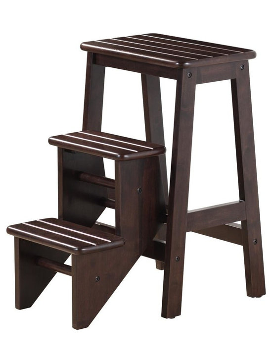 """Boraam - Boraam 24"""" Step Stool in Cappuccino - 24"""" Step Stool in Cappuccino by Boraam Hard to reach places? The Boraam Step Stool is just what you need! This well designed 3 level step-stool is perfect for those hard to reach places. Made out of solid hardwood construction and a safety latch, this stool is safe for everyone to use."""