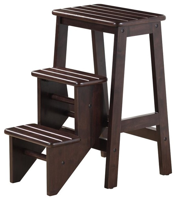 Boraam 24 Quot Step Stool In Cappuccino Modern Ladders And