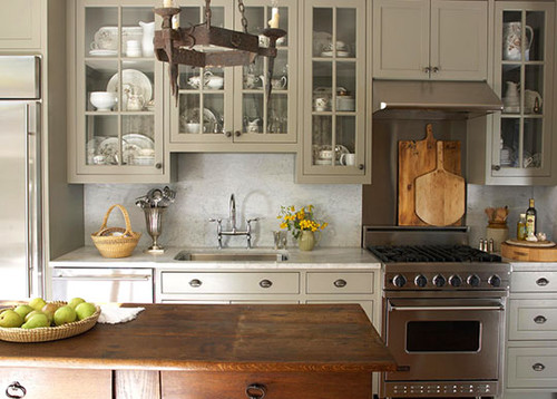 eclectic kitchen 25 Glamorous Gray Kitchens