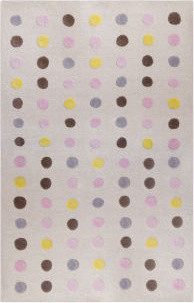 Dots Petal Rug eclectic kids rugs