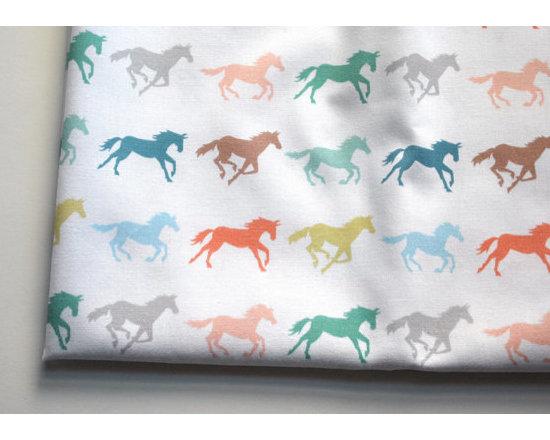 Gallop Horse Fabric, Fat Quarter by Katherine Codega -