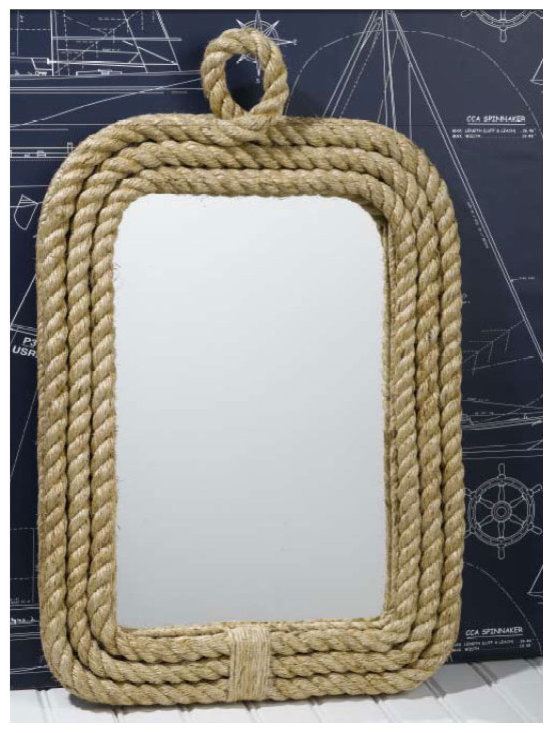 Know Your Ropes Wall Mirror by Two's Company -