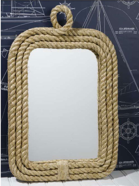 Know Your Ropes Wall Mirror by Two's Company traditional-wall-mirrors
