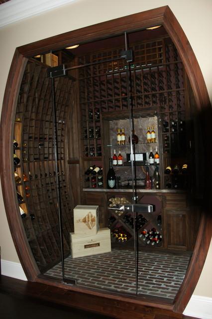 Beautiful Barrel Shaped Concave Radius Wine Racks  Eclectic  Wine Cellar  by Wine Cellar
