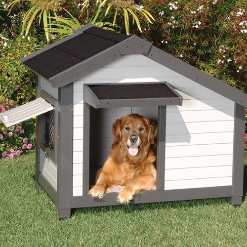 ProConcepts Cozy Cottage Dog House in Gray modern-pet-supplies
