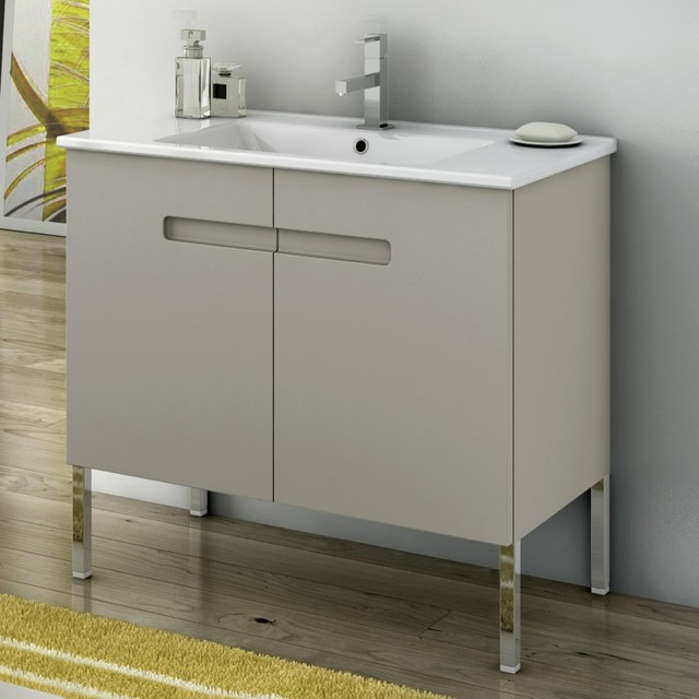 32 Inch Vanity Cabinet With Fitted Sink - Contemporary ...