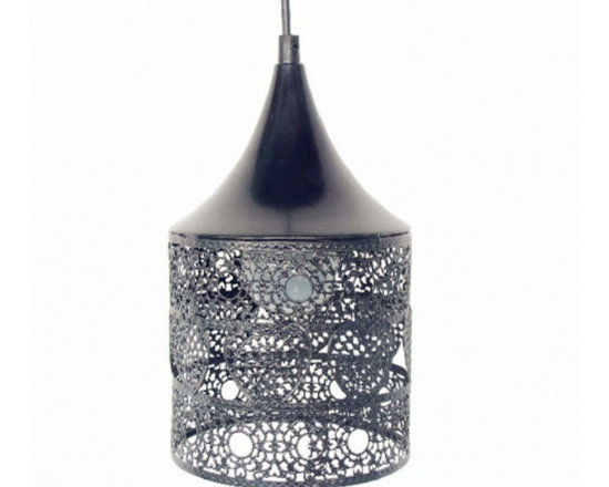 Modern Round Pendant Lamp with Hollowed Flower - Ideal for Restaurant , Living room, Hallway.etc.
