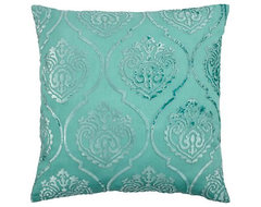 Andora Pillow, Aquamarine contemporary pillows