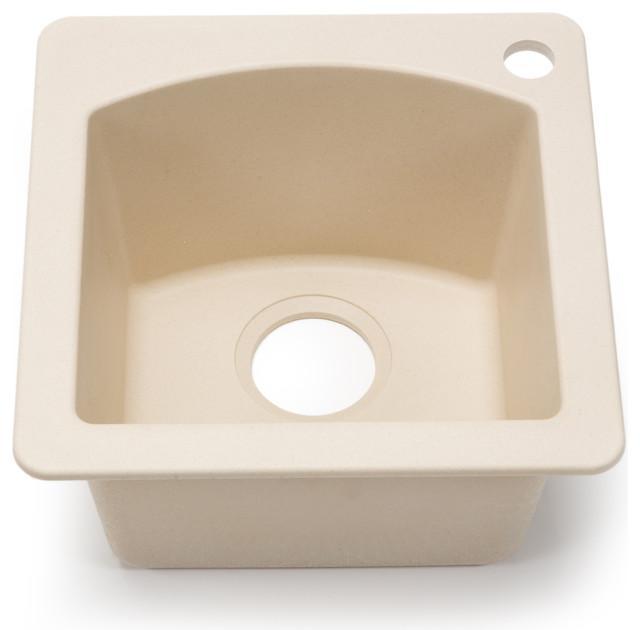 Blanco Silgranit Diamond Biscotti Dual Mount Bar Sink - Contemporary ...
