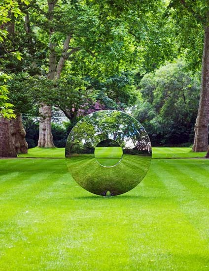 Landscape Garden Art : The torus contemporary garden statues and yard art