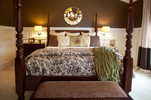 Master bedroom brown and cream cincinnati by karen for Brown and cream bedroom ideas