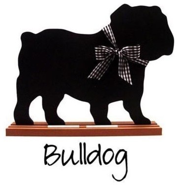 Bulldog Shaped Chalkboard by Twice as Nice eclectic accessories and decor
