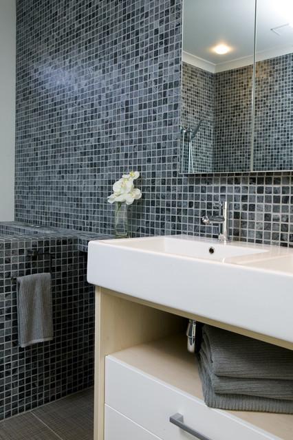 Island Stone Silver Quartzitic Slate Classic Mosaic Bathroom Modern Tile