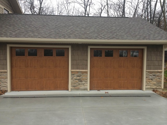 Gallery Wood Grain Installation Contemporary Garage