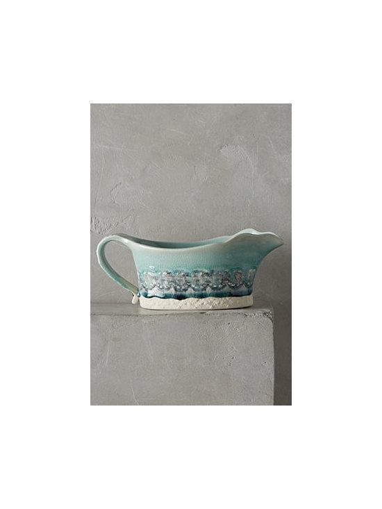 Anthropologie - Old Havana Gravy Boat - Stoneware. Dishwasher safe. Portugal