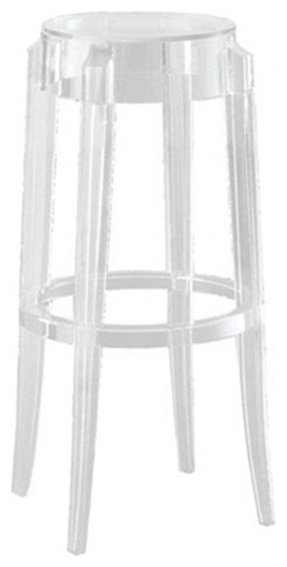 Crystal Clear Stackable Barstool by Mod Decor contemporary-bar-stools-and-counter-stools