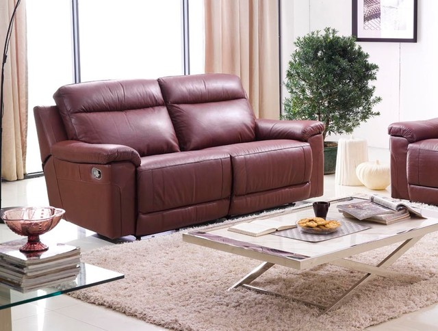 Isabella Italian Leather Reclining Sofa