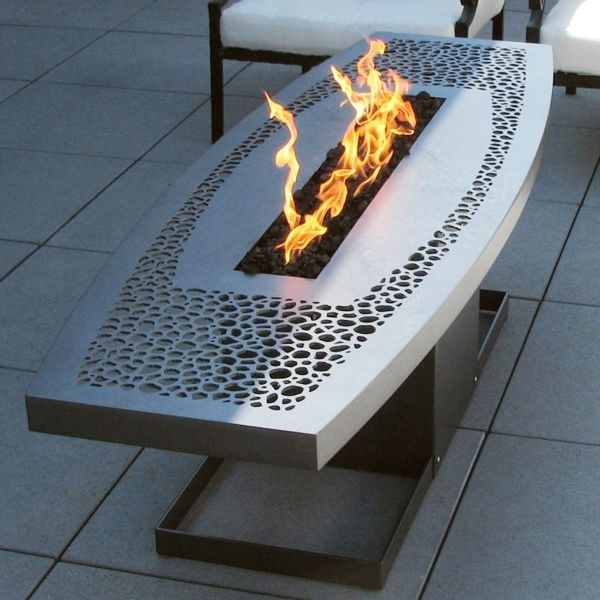 John xochihua outdoor fire pits contemporary fire pits for Outdoor modern fire pit