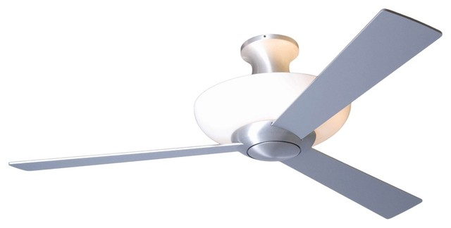 "52"" Aurora Hugger Aluminum Finish Uplight Ceiling Fan contemporary ceiling fans"
