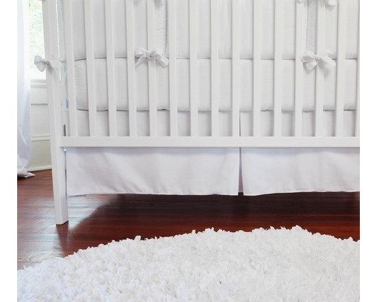 Solid White Crib Skirt -