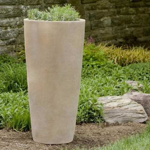Terra Cotta Round Aluan Tall Round Planter Contemporary