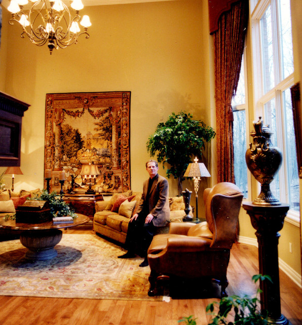 old world elegance traditional family room detroit
