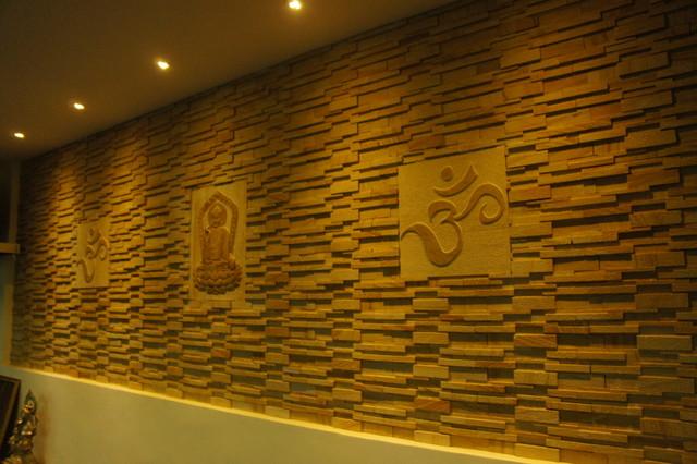 Yoga Studio Interior Using Natural Stone Modern Other