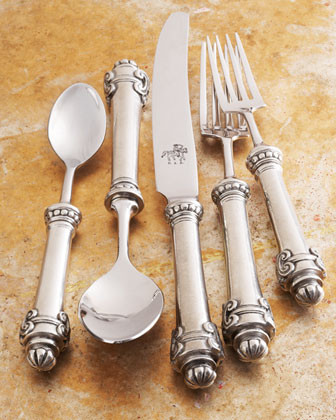 Five-Piece Medici Place Setting traditional flatware