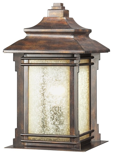 Arts and Crafts - Mission Franklin Iron Works™ Hickory Point Outdoor Pier Mount modern-outdoor-lighting