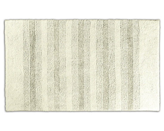 "Sands Rug - Westport Stripe Chalk Washable Bath Rug (2' x 3'4"") - Classic and comfortable, the Westport Stripe bath collection adds instant luxury to your bathroom, shower room or spa. Machine-washable, always plush nylon holds up to wear, while the non-skid latex makes sure rugs stay in place."
